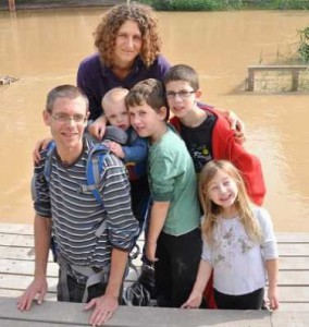 Amos Levy with his family