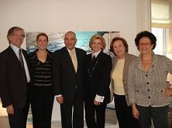 Hadassah Switzerland Board (From Left): Dr. Manno Saks, EVP;Mrs Michal Caspi; Ambassador Yigal Caspi; Ellen Frick-Delman,President; Susi Lauer Margolin, VP- Zurich and Monique Stein