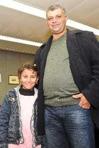 Hala Bayumi with her donor, Muhamad Azzam
