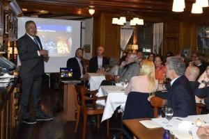 Prof. Eitan Kerem addresses audience at Zurich event