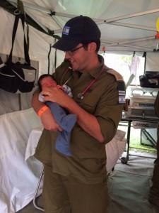 Uri Ilan with baby