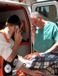 prof. Avi Rivkind, Head of Trauma, works with each patient as they arrive at the Hadassah Hospital Trauma Center