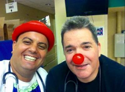 Dr. Oded Poznanski with clown