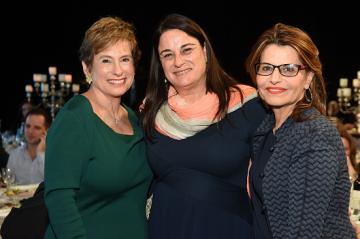 Left to Right, Nancy Falchuk, Past President of Hadassah, Rona Ramon, and Dalia Itzik, Chair of Hadassah International Israel