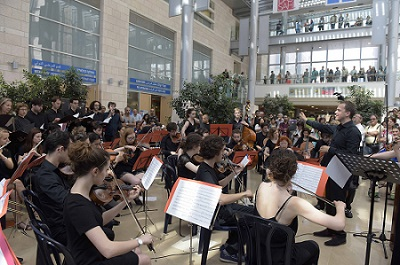 A French Orchestra Plays at Hadassah