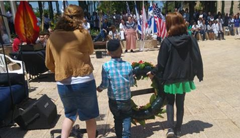 Memorial day, laying a wreath