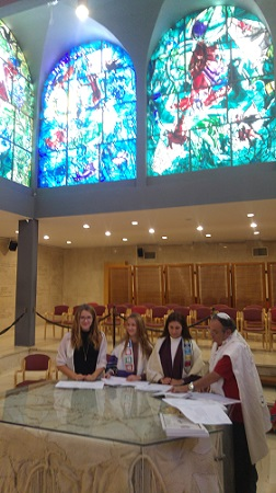 Gottliebs in Abbell Synagogue red
