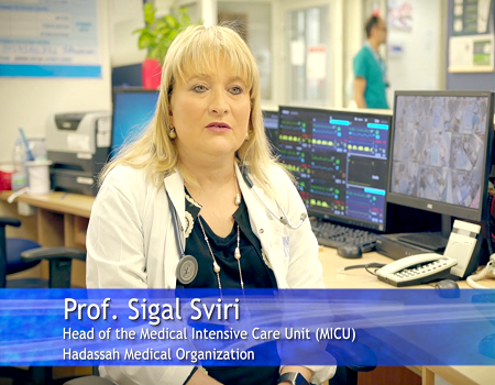 Prof. Sigal Sviri - Director of HMO's Intensive Care Unit